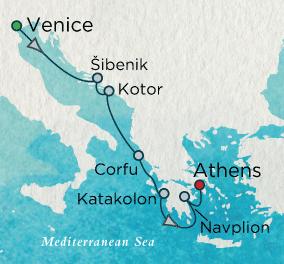7 Seas Luxury Cruise - Adriatic Reflections Map Crystal Luxury Cruise Symphony