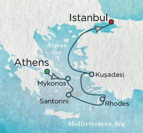 7 Seas Luxury Cruise - Aegean Antiquity Map Crystal Luxury Cruise Symphony