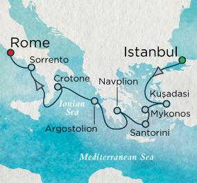 7 Seas Luxury Cruise - Goddesses & Gladiators Map Crystal Cruises Symphony