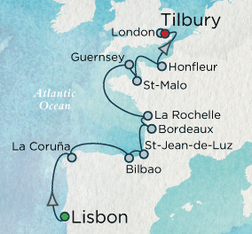 7 Seas Luxury Cruise - Vistas & Vintages Map Crystal Luxury Cruise Symphony