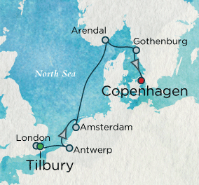 7 Seas Luxury Cruise - Northern Classics Map Crystal Cruises Symphony
