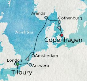 7 Seas Luxury Cruises - Northern Classics Map Crystal Cruises Symphony