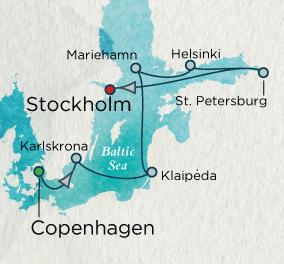 Across the Baltic Sea Map Crystal Luxury Cruises Symphony 2023
