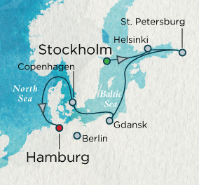 SINGLE Cruise - Balconies-Suites Baltic Discovery Map SINGLE Cruise Balconies-Suites Crystal Cruises Symphony 2019