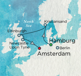 SINGLE Cruise - Balconies-Suites North Sea Medley Map SINGLE Cruise Balconies-Suites Crystal CRUISE Symphony 2019