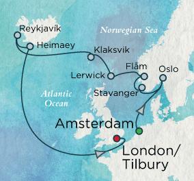 7 Seas Luxury Cruise - North Sea Circle Map Crystal Luxury Cruise Symphony