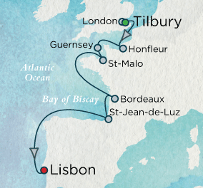 European Tapestry Map Crystal Cruises Symphony 2016