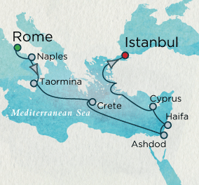 SINGLE Cruise - Balconies-Suites Journey to the Holy Land Map SINGLE Cruise Balconies-Suites Crystal CRUISE Symphony 2019