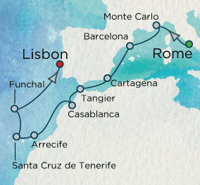 7 Seas Luxury Cruise - Canary Island Celebration Map Crystal Luxury Cruise Symphony