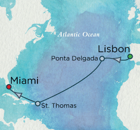 7 Seas Luxury Cruise - Autumnal Crossing Map Crystal Luxury Cruise Symphony
