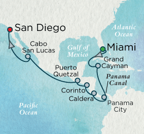 SINGLE Cruise - Balconies-Suites Panama Canal Passage Map SINGLE Cruise Balconies-Suites Crystal Cruises Symphony 2019