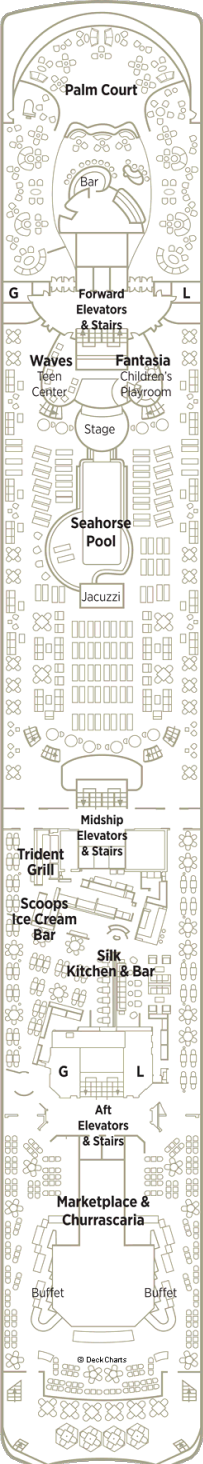 Crystal Cruises Symphony Deck plan Deck Image