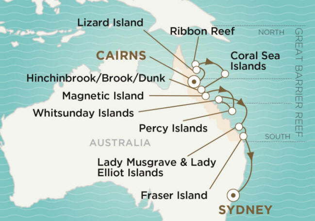 Crystal Endeavor Luxury Cruise 2020 CAIRNS TO SYDNEY