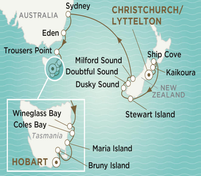 Crystal Endeavor Luxury Cruise 2020 CHRISTCHURCH TO HOBART