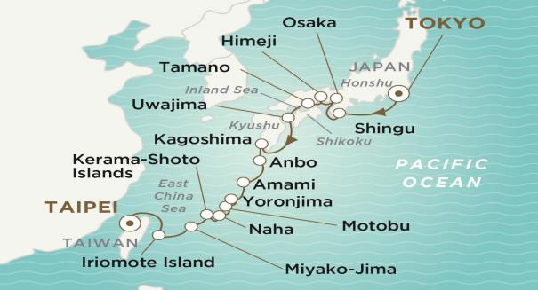 7 Seas Luxury Cruises Crystal Endeavor 2020  TOKYO TO TAIPEI