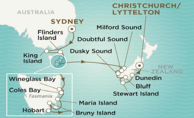 7 Seas Luxury Cruises Crystal Endeavor  2020 SYDNEY TO CHRISTCHURCH