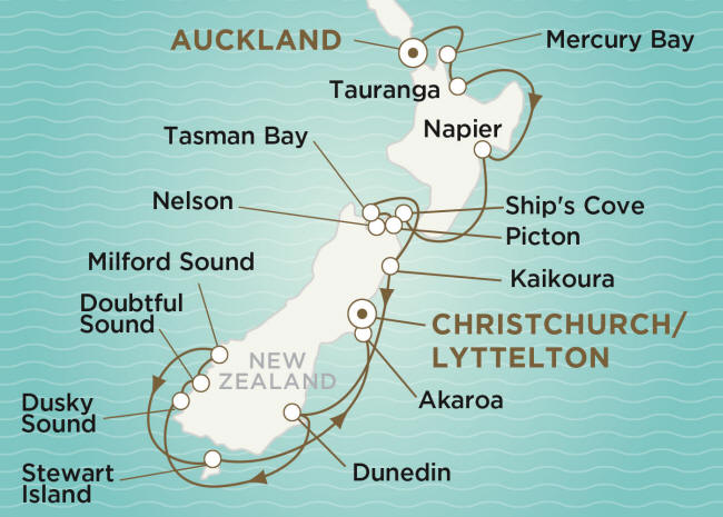 Crystal Endeavor Luxury Cruise 2020 AUCKLAND TO CHRISTCHURCH