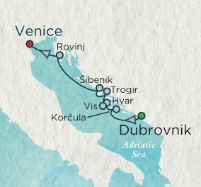 Crystal Luxury Cruises Esprit September 17-24 2024 Dubrovnik, Croatia to Venice, Italy