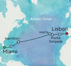 Crystal Cruises Serenity 2017 April 15-29 Miami, FL to Lisbon, Portugal
