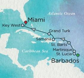 LUXURY CRUISE - Balconies-Suites Crystal Cruises Serenity 2020 April 5-15 Barbados to Miami, FL