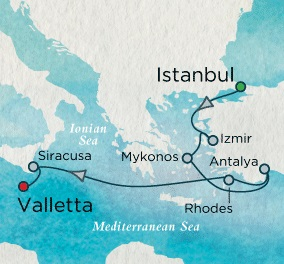 Crystal Luxury Cruise Serenity 2024 August 1-13 Istanbul, Turkey to Valletta, Malta