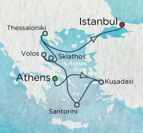HONEYMOON Crystal Serenity 2021 August 27 September 5 Athens (Piraeus), Greece to Istanbul, Turkey