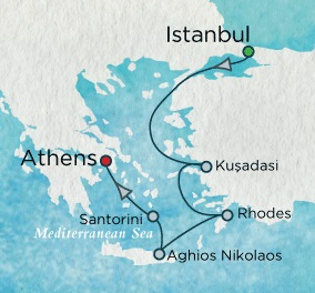 Singles Cruise - Balconies-Suites Crystal Cruises Serenity 2020 June 11-18 2020 Istanbul, Turkey to Athens (Piraeus), Greece