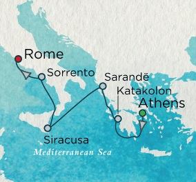SINGLE Cruise - Balconies-Suites Crystal CRUISE Serenity 2020 June 18-27 Athens (Piraeus), Greece to Rome (Civitavecchia), Italy