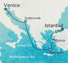 Singles Cruise - Balconies-Suites Crystal Cruises Serenity 2020 June 4-11 Venice, Italy to Istanbul, Turkey