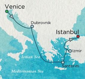 LUXURY CRUISE - Balconies-Suites Crystal Cruises Serenity 2020 June 4-11 Venice, Italy to Istanbul, Turkey
