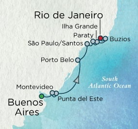 Crystal Cruises Serenity 2017 March 3-14 Buenos Aires, Argentina to Rio de Janeiro, Brazil