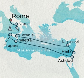 Singles Cruise - Balconies-Suites Crystal Cruises Serenity 2020 October 1-15 Rome (Civitavecchia), Italy to Rome (Civitavecchia), Italy