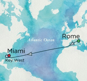HONEYMOON Crystal Serenity 2021 October 15-27 Rome (Civitavecchia), Italy to Miami, FL