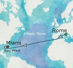 Singles Cruise - Balconies-Suites Crystal Cruises Serenity 2020 October 15-27 Rome (Civitavecchia), Italy to Miami, FL