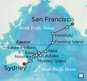 7 Seas Luxury Cruise - Pacific Isles Map