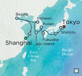 7 Seas Luxury Cruises - Crystal Cruises World Cruise Oriental Odyssey Map