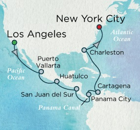 Crystal Cruises Symphony 2017 April 30 May 19 Los Angeles (San Pedro), CA to New York (Brooklyn), NY