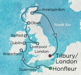 Crystal Cruises Symphony 2017 August 13-25 Honfleur, France to London (Tilbury), England