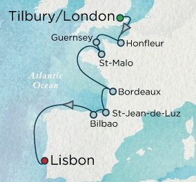 Crystal Cruises Symphony 2017 August 25 September 6 London (Tilbury), England to Lisbon, Portugal