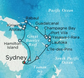 Crystal Cruises Symphony 2017 January 20 February 10 Sydney, Australia to Sydney, Australia