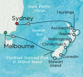 Crystal Cruises Symphony 2017 January 5-20 Melbourne, Australia to Sydney, Australia
