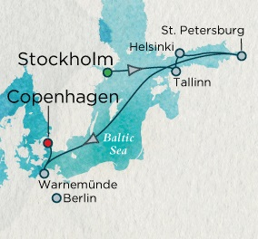 Crystal Cruises Symphony 2017 June 24 July 4 Stockholm, Sweden to Copenhagen, Denmark