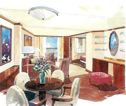 Charters, Groups, Penthouse, Balcony, Windows, Owner Suite, Veranda - Cruises Crystal Serenity Deck Plans