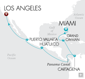 Luxury Cruise - Panama Canal Passage Map