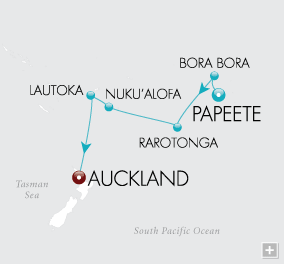 LuxuryCruises - South Pacific Serenade Map