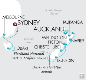Luxury Cruises - Southern Cross Discovery Map