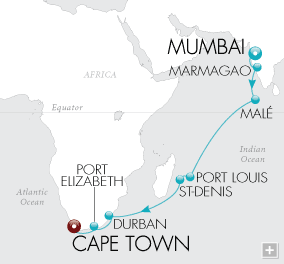 LuxuryCruises - Safaris & Seashells Map