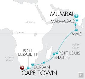 Luxury Cruises - Safaris & Seashells Map