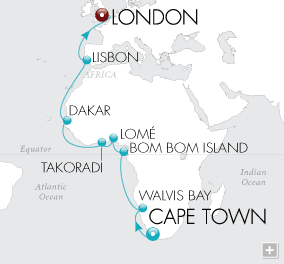 Luxury Cruise - African Adventurer Map