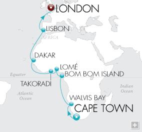 Single Balconies/Suites African Adventurer Map